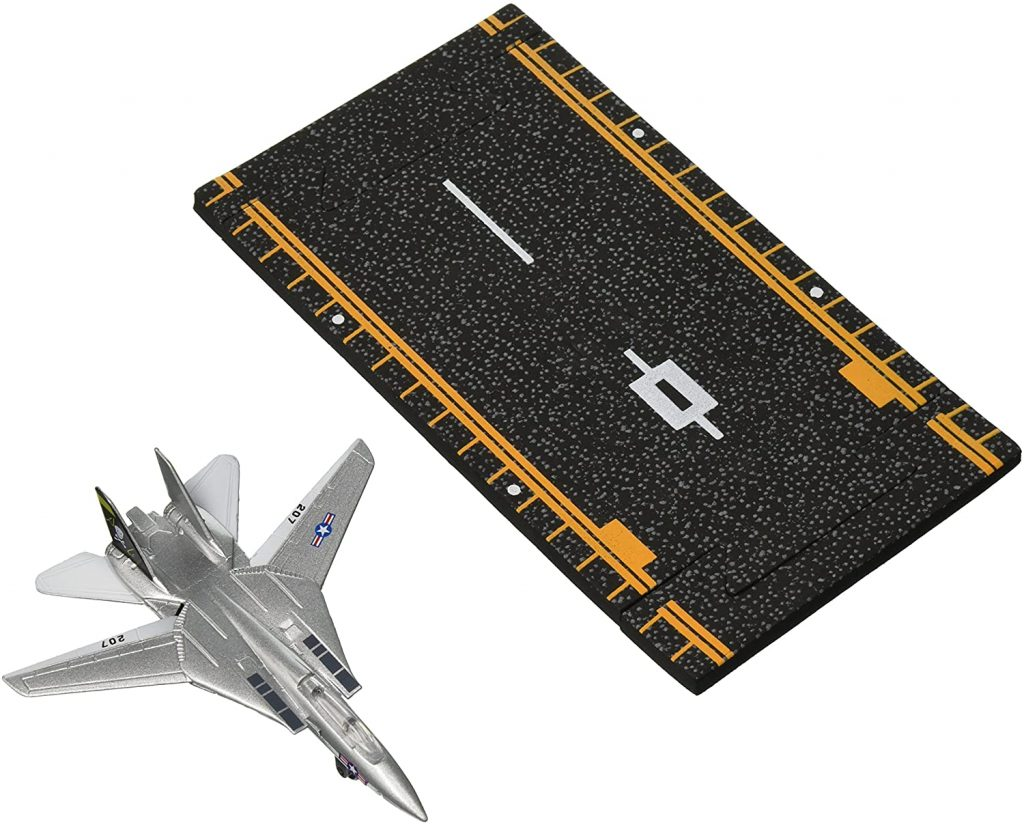 Hot Wings Planes F-14 Tomcat Jet (Jolly Rodgers) with Connectible Runway