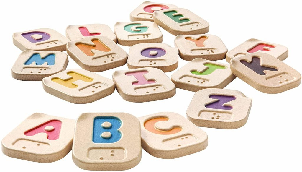 braille alphabet pieces for visually impaired children